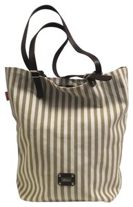 Saldarini 1882 Taupe/Cream/Brown Beach Bag