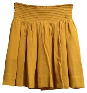 Banana Republic Mini Skirt Mustard