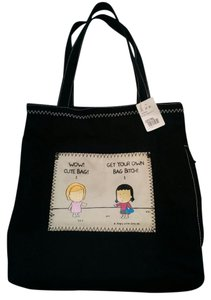 Angry Little Girls Tote in Black