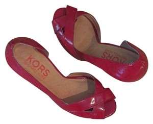 Michael Kors Collection Red patent Wedges