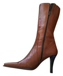 Charles David Leather Italian Brown Boots