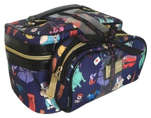 Betsey Johnson Bulldog Bulldogs Makeup Navy Travel Bag