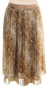 Jones New York Pleated Skirt Brown / Rum Multi