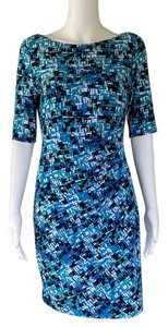 Anne Klein short dress Blue 3/4 Sleeves Sheath Pull-on Slinky on Tradesy