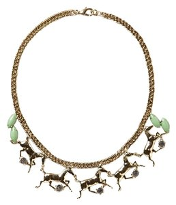 Anthropologie Galloping Horses Necklace