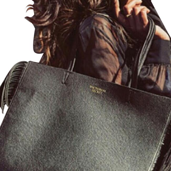 Item - Black Faux Leather Tote