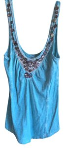 Free People Embroidery Top turquoise