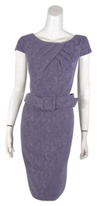 Adrianna Papell Belted Textured Dress