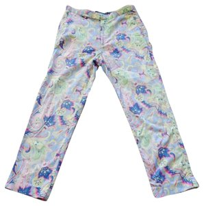 Ralph Lauren Paisley Cropped Golf Capri/Cropped Pants