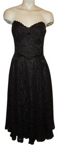Gunne Sax Vintage Lace Sequin Strapless Dress