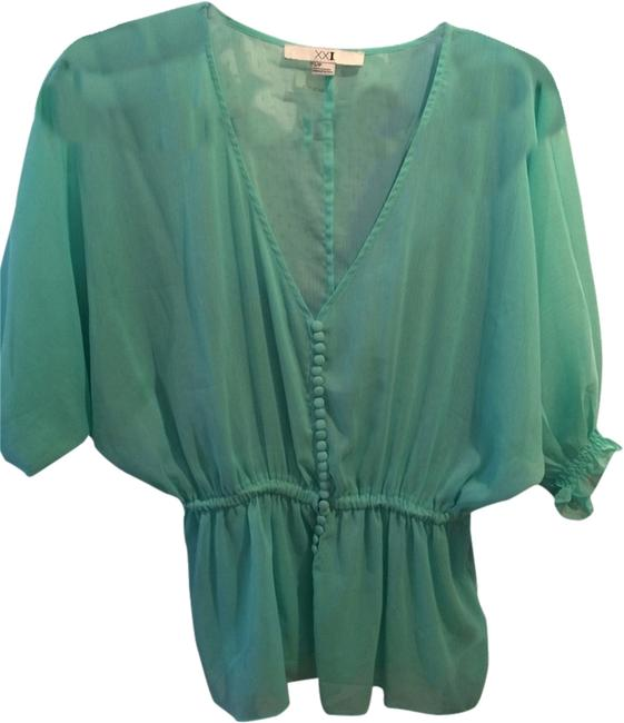 Preload https://item3.tradesy.com/images/forever-21-seafoam-button-front-blouse-size-4-s-1977957-0-0.jpg?width=400&height=650