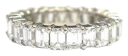 Other Fine,Emerald,Cut,Diamond,Shared,Prong,Eternity,Band,Ring,Wg,3.70ct,Sz6