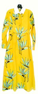Foral/Yellow Maxi Dress by Fendi Resort Relax Vacation Unique Silk