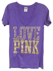 PINK T Shirt Gold, Purple