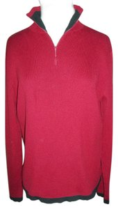 Relativity Xlarge Red Black Cotton Medium Knit Sweater