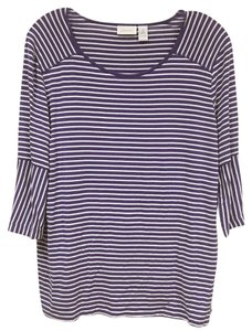 Chico's T Shirt Purple, White