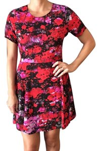 BB Dakota short dress Red floral Bb Cutout Anthropologie on Tradesy