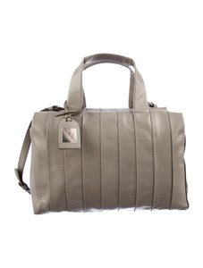 Reed Krakoff Grey Leather Satchel in Ash Grey