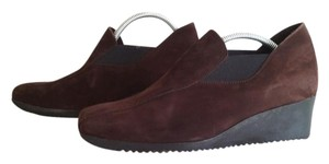 Arche Suede Slip-on Chocolate Wedges
