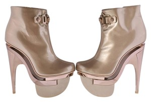 Versace Leather Ankle Platform Boots