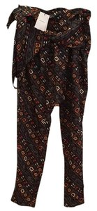 Isabel Marant Relaxed Pants Black w pattern