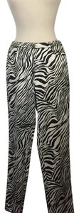 Luca Luca Straight Pants Black white