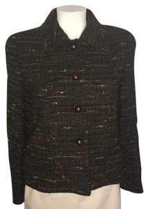 Chanel Boucle Vintage Tweed Brown Blazer