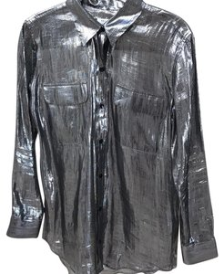 Equipment Button Down Shirt Metallic