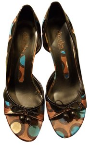 Charles David Stiletto Fall Heels black, brown, teal, beige Pumps