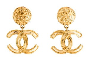 Chanel VIntage CC Logo Earrings