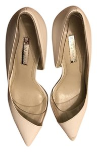 BCBGeneration White/Clear Pumps