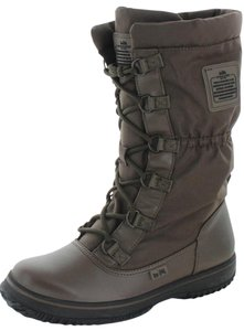 Coach Sage Womens Nylon Cold Khaki Brown Boots