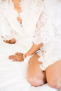 Girl And A Serious Dream Swan Queen Lace Bridal Robe