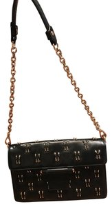 Olivia Harris Studded Leather Chain Gold Hardware Shoulder Bag