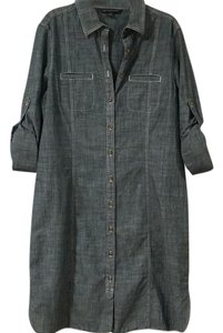 Brooks Brothers short dress blue, denim Chambray Shirt on Tradesy