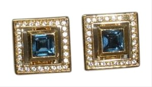 Dior Authentic Christian Dior crystal clip-on earrings