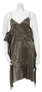 Lanvin Raw Edge Silk Dress