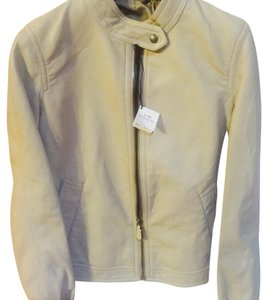 Coach Taupe Leather Jacket