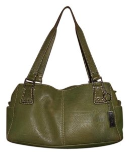 Fossil Leather Satchel in Green