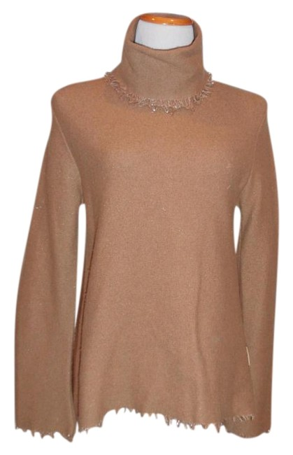 Item - Jeans Dis Attached Turtleneck Brown Sweater