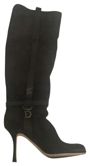 Dior Brown Cannage Over The Knee Boots/Booties Size US 10 Regular (M, B) Dior Brown Cannage Over The Knee Boots/Booties Size US 10 Regular (M, B) Image 1