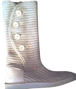 Old Navy Light Grey/White Boots