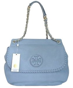 Tory Burch Marion Saddle Powder Blue Cross Body Bag