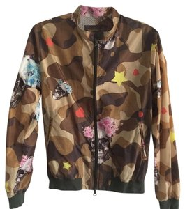 Fifteen & Half pm & Hard To Find Unique Camouflage style, yellow, pink, blue, brown Jacket