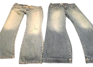Abercrombie & Fitch & Af 2 Pairs Flare Leg Jeans-Medium Wash