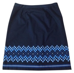 Ann Taylor LOFT Skirt black blue
