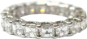 Fine,Asscher,Cut,Diamond,Eternity,Ring,3.00ct,Wg,Sz5
