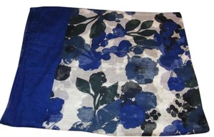American Eagle Outfitters Watercolor Flowers Cotton Voile Scarf