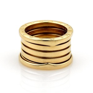BVLGARI Bulgari Bvlgari B Zero-1 13mm 18k Yellow Gold Band Ring Eu 54-us