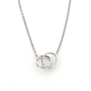 Cartier Cartier Baby Love Infinity Double Clasp Ring Pendant Necklace In 18k White Gold